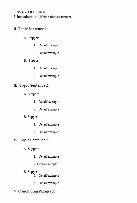 Thesis Outline Template Best Of 18 Useful Outline Templates Pdf Word Apple Pages