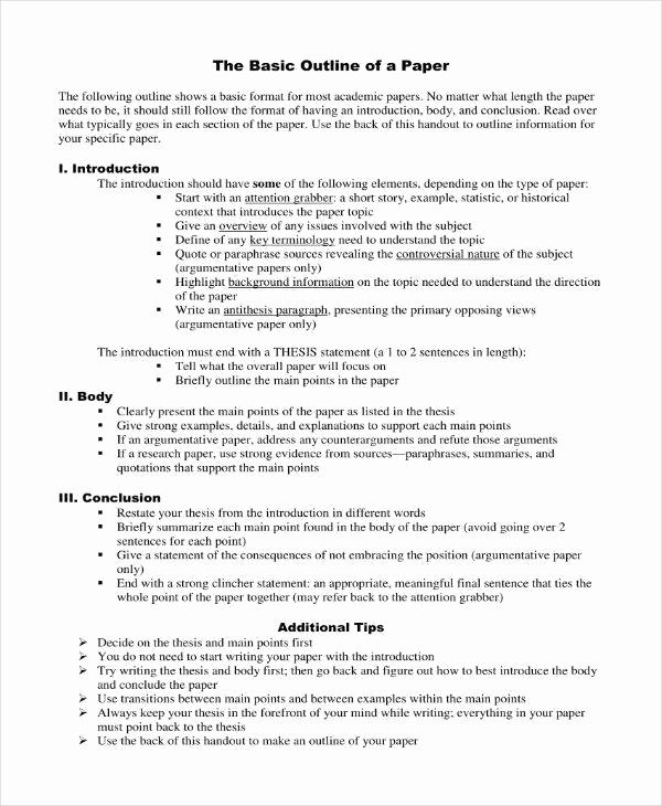 Thesis Outline Template Unique 10 Essay Proposal Outline Templates Pdf Doc