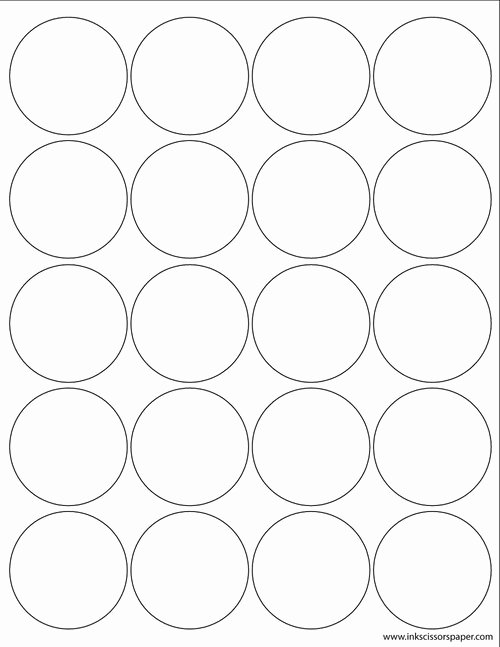 Three Inch Circle Template Best Of Template 3 1 4 Inch Round Labels Inkscissorspaper