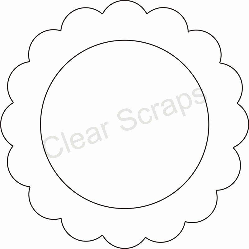 Three Inch Circle Template Elegant Medium Circle Scallop Frame