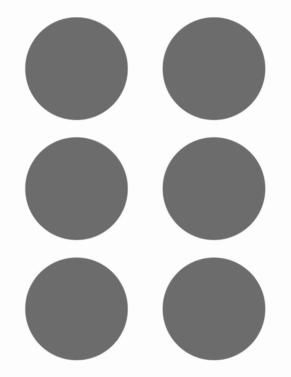 Three Inch Circle Template Lovely Psd Template 6 Circles 3 Inch Diameter