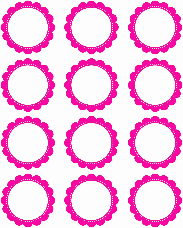 Three Inch Circle Template New Free Printable 2 Inch Hot Pink Scallop Circles