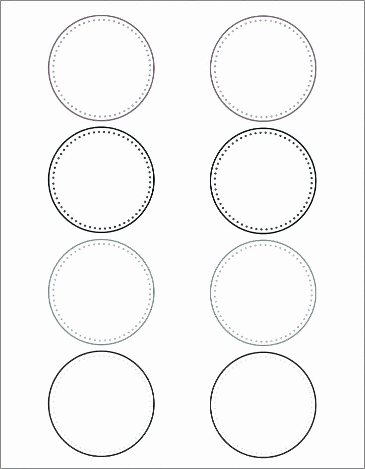 Three Inch Circle Template Unique 4 Inch Circle Template