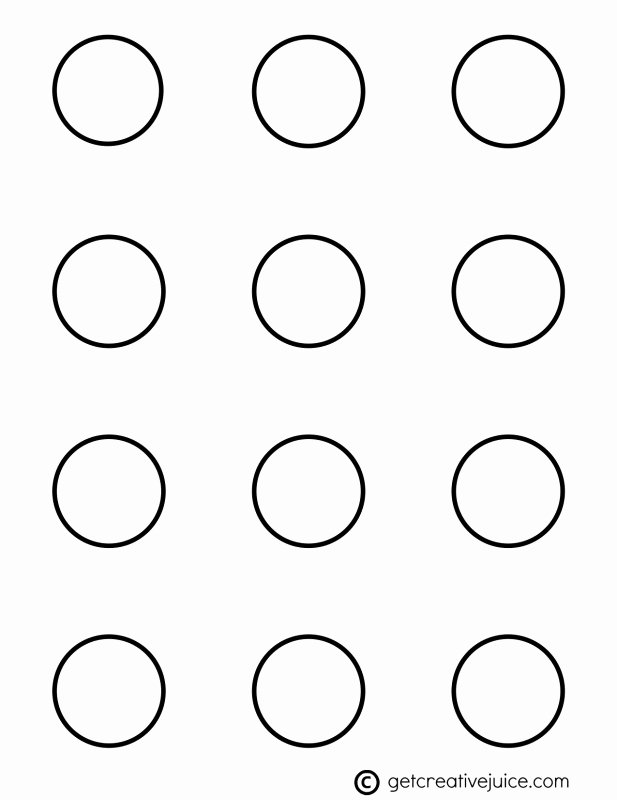 Three Inch Circle Template Unique Macarons Basic Printable Template Creative Juice