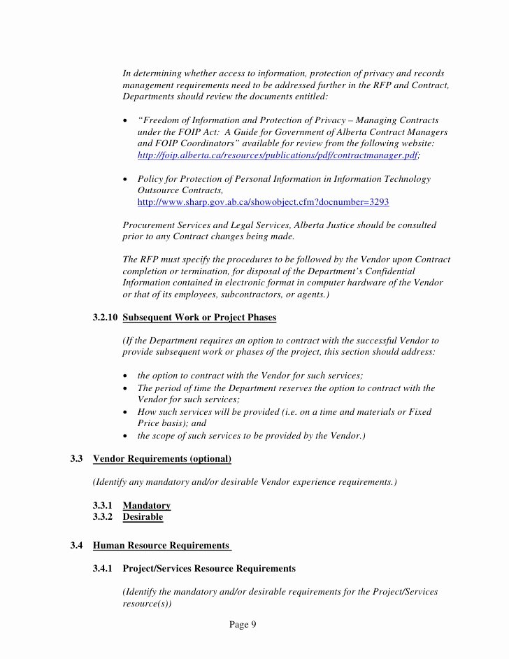 Time and Materials Template Awesome General Services Time and Materials Rfp Template