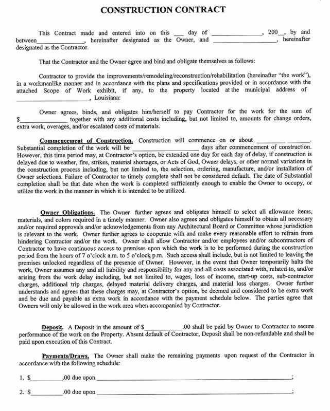 Time and Materials Template Elegant Time and Materials Contract Template