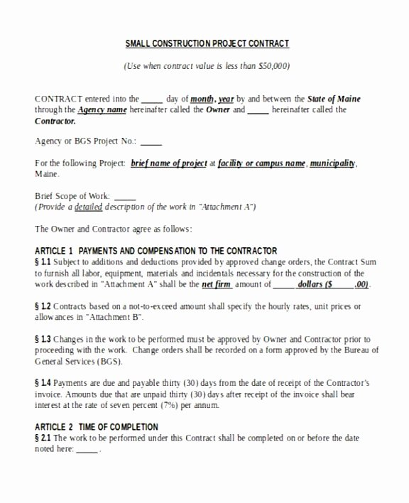 Time and Materials Template Luxury 5 Time and Material Contract Template Uttuj