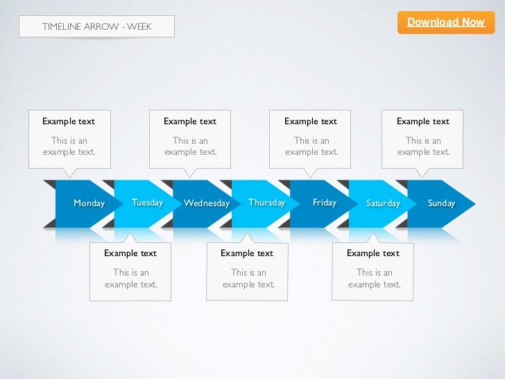 Timeline Template Keynote Beautiful [keynote Template] Timeline Arrow 2d Week