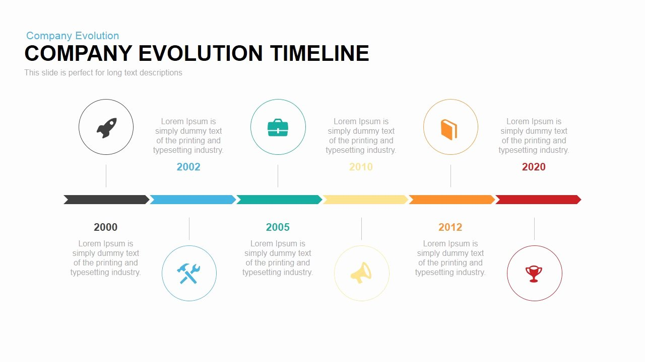 Timeline Template Keynote Best Of Pany Evolution Timeline Powerpoint Keynote Template