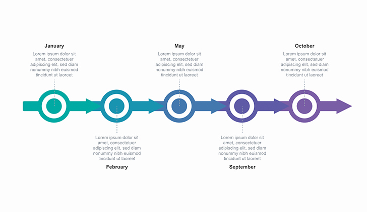 Timeline Template Keynote Elegant Timeline Arrow Free Keynote Download Free now