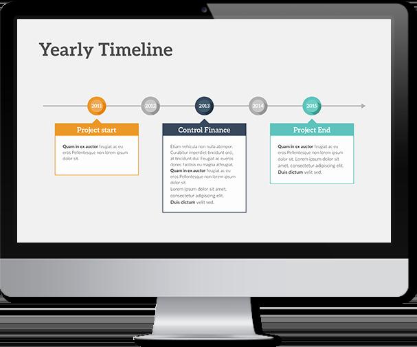 Timeline Template Keynote Elegant Timeline Keynote Template