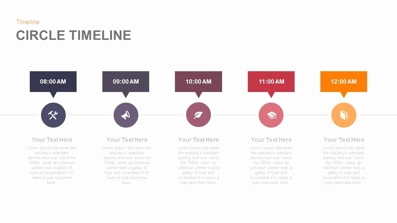Timeline Template Keynote Fresh Circle Timeline Powerpoint and Keynote Template