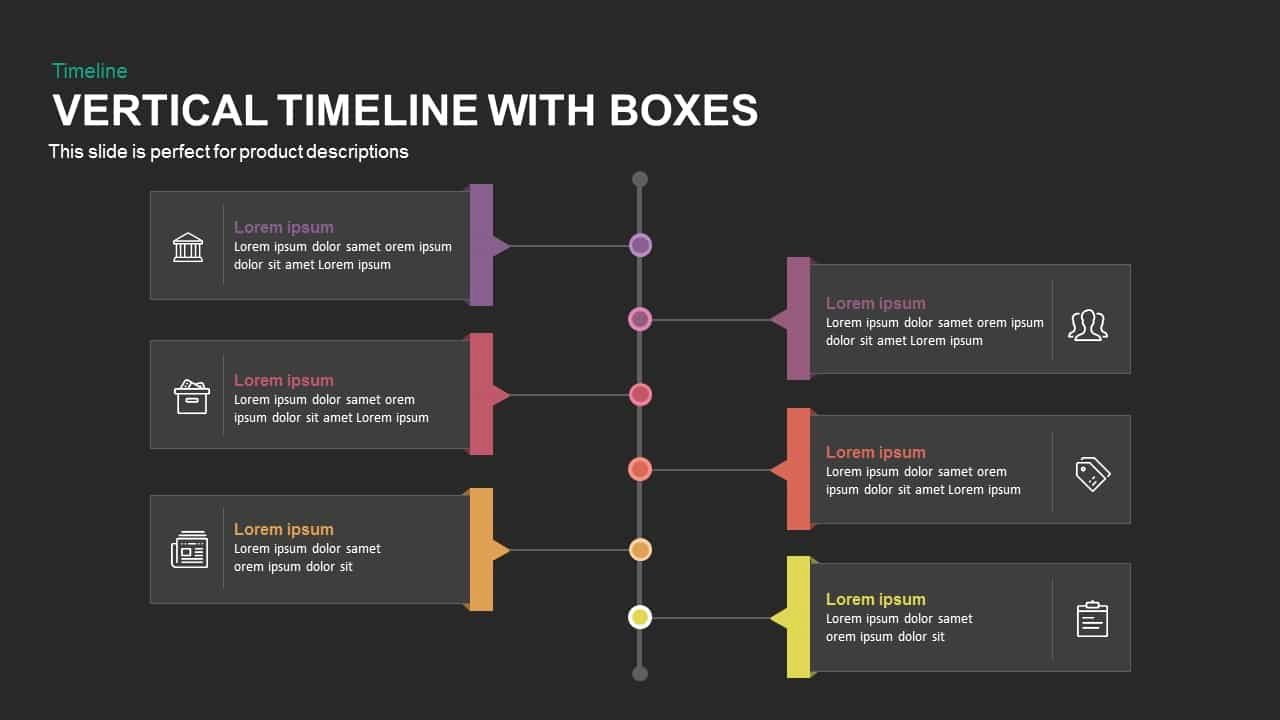 Timeline Template Keynote Fresh Vertical Timeline with Boxes Powerpoint and Keynote