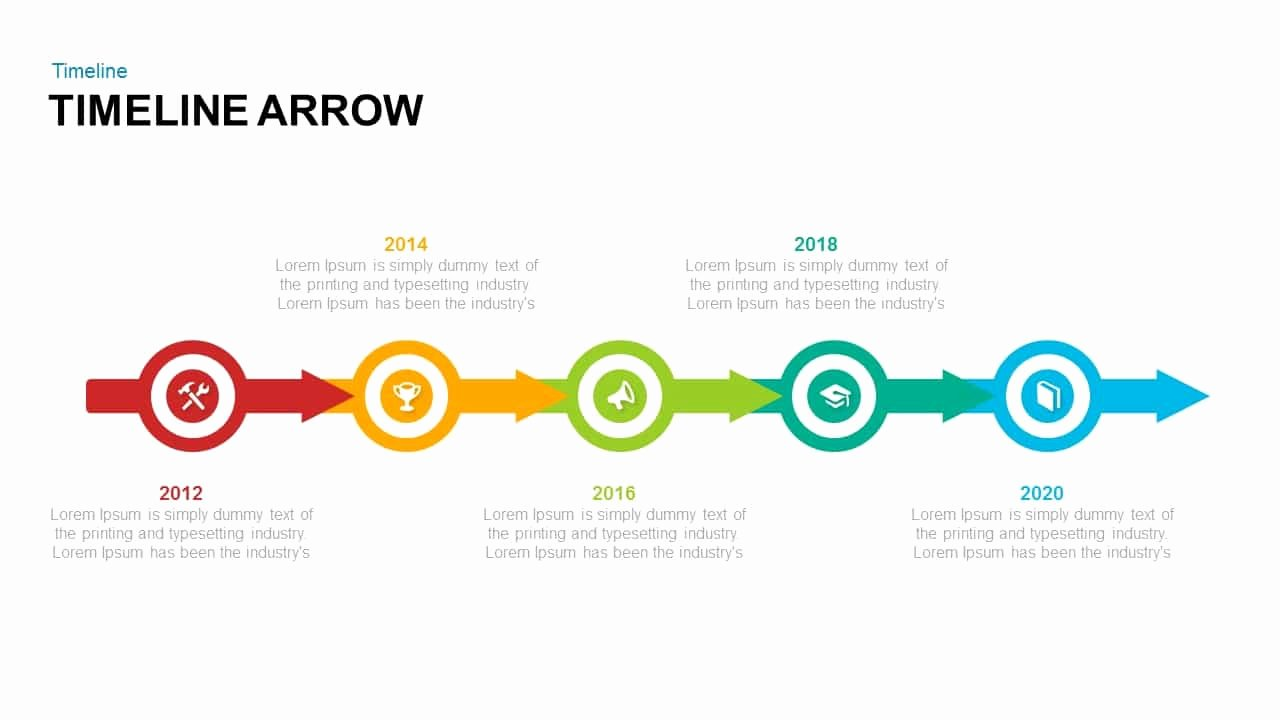 Timeline Template Keynote Inspirational Timeline Arrow Powerpoint and Keynote Template