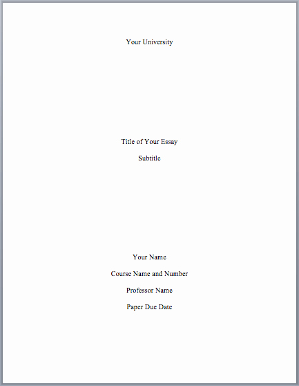 Title Maker for Essay Beautiful Mla format Cover Page Mla format