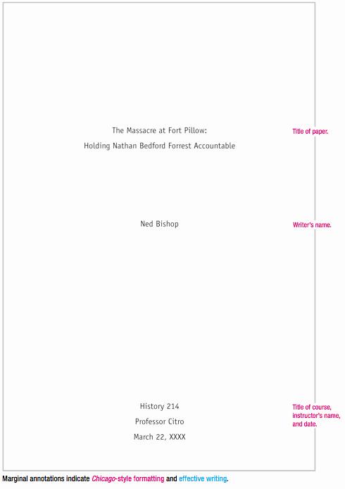 Title Maker for Essay Lovely Chicago Style Sample Paper
