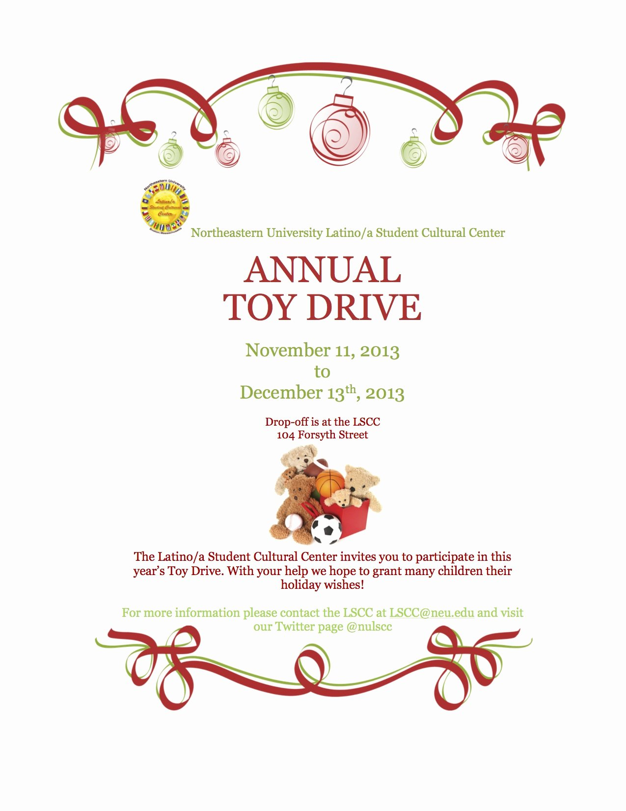 Toy Drive Flyer Template Awesome Lscc toy Drive
