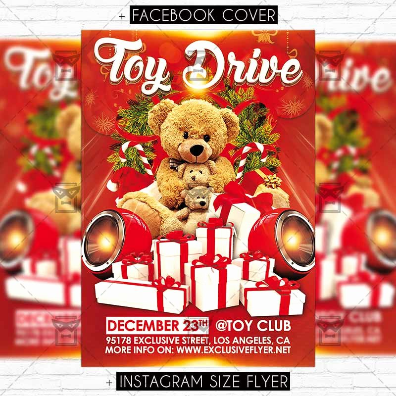 Toy Drive Flyer Template Awesome toy Drive – Premium Flyer Template Exclsiveflyer