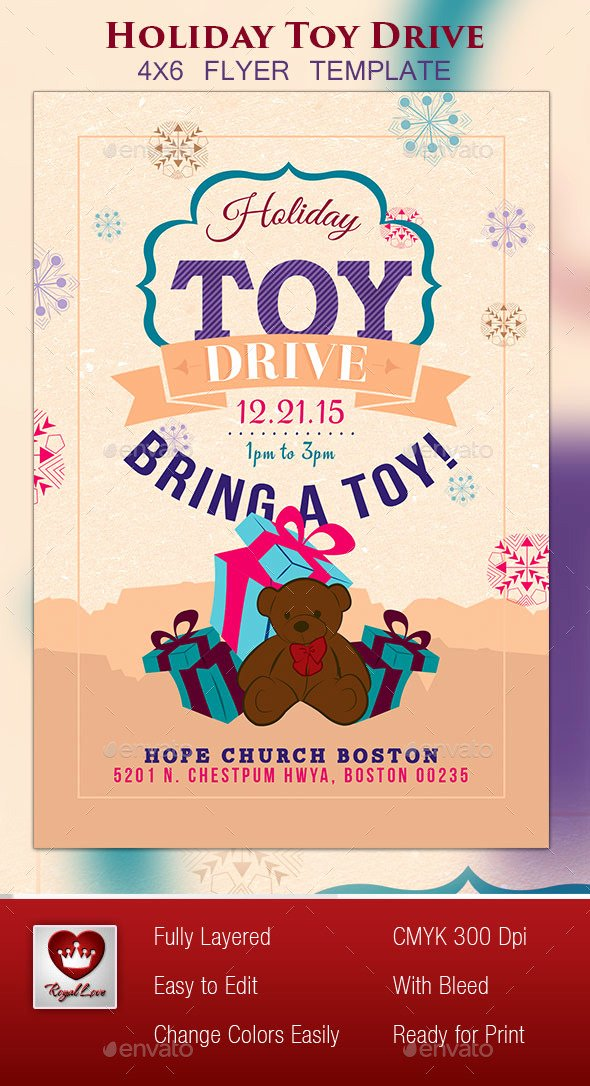 Toy Drive Flyer Template Beautiful Free Book Drive Flyer Templates Chreagle