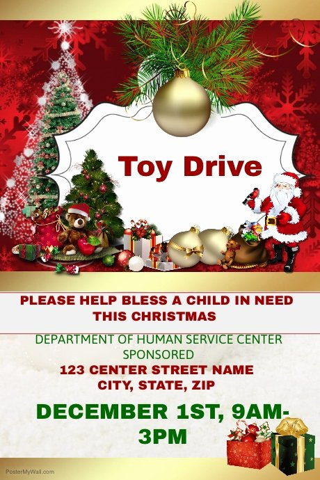 Toy Drive Flyer Template Beautiful toy Drive Template