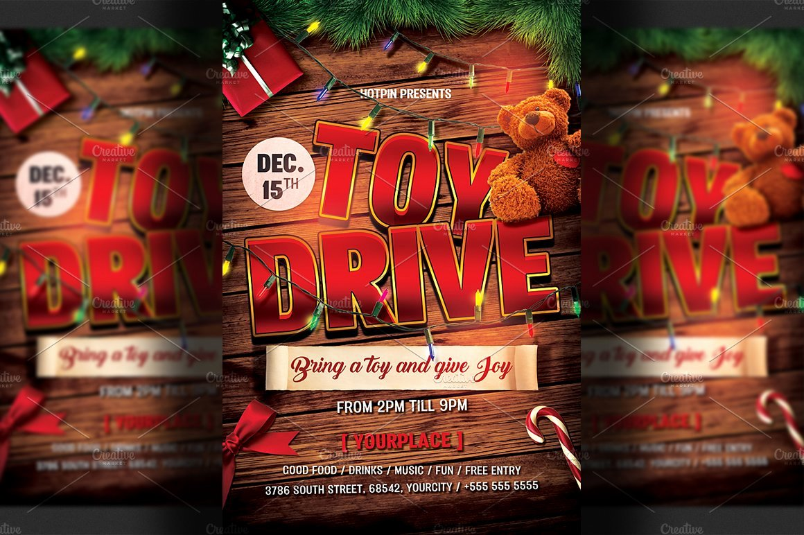 Toy Drive Flyer Template Best Of Christmas toy Drive Flyer Template Flyer Templates