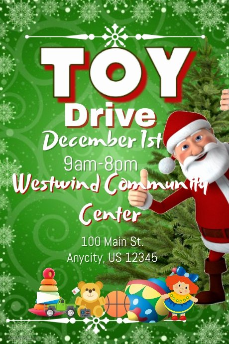 Toy Drive Flyer Template Inspirational toy Drive Template