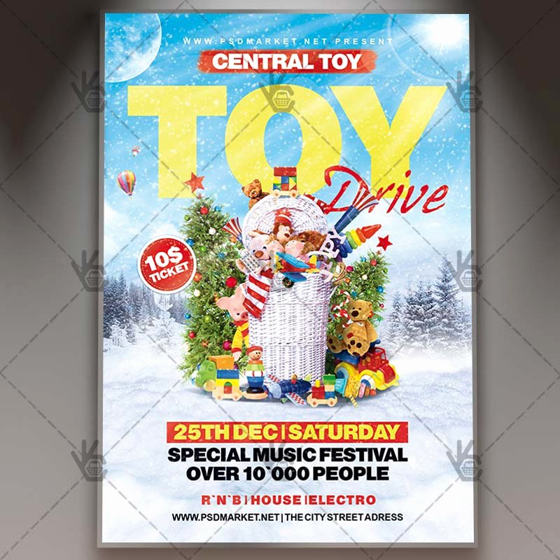 Toy Drive Flyer Template Inspirational toy Drive Winter Flyer Psd Template