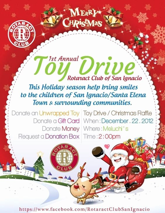 Toy Drive Flyer Template Lovely Rotaract toy Drive at Meluchi S