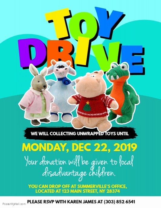 Toy Drive Flyer Template Lovely toy Drive Donation Flyer Template