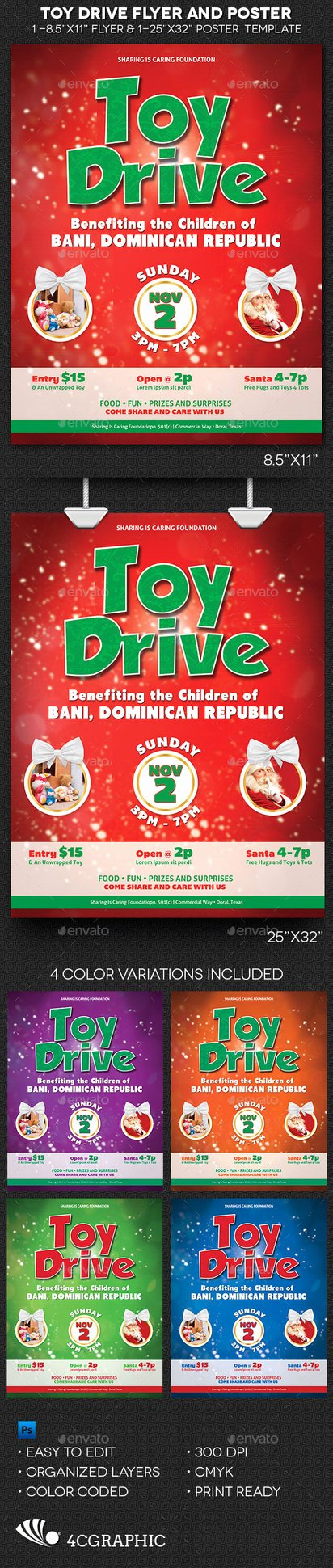 Toy Drive Flyer Template Lovely toy Drive Flyer and Poster Template by Godserv On Deviantart