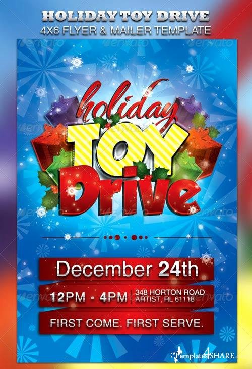 Toy Drive Flyer Template New Graphicriver Holiday toy Drive Flyer & Mailer