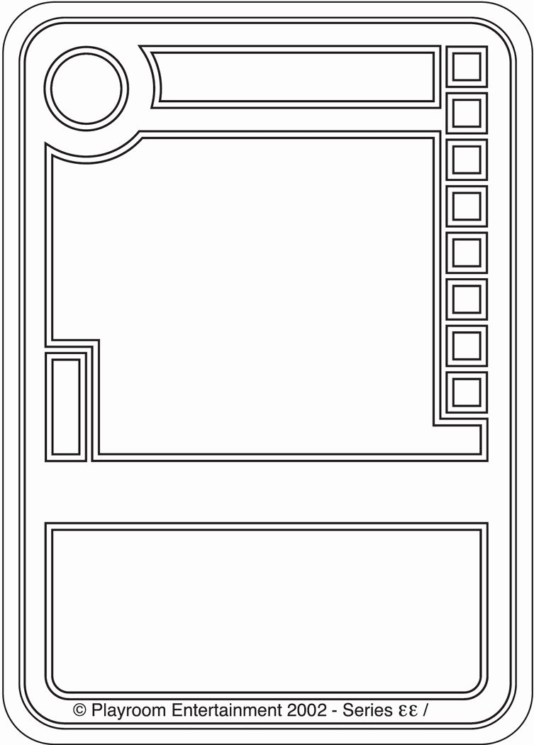 Trading Card Template Free Awesome Blank Trading Cards