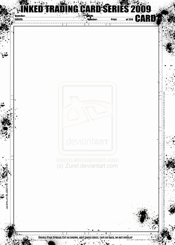 Trading Card Template Free Best Of Inked Trading Card Template by Dontborninink On Deviantart