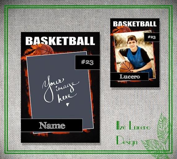 Trading Card Template Free Elegant Psd Basketball Trading Card Template