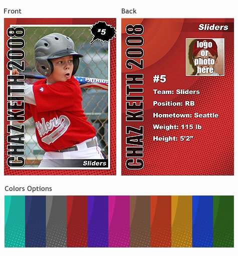Trading Card Template Free Elegant Sports Trading Cards Template Vol 2