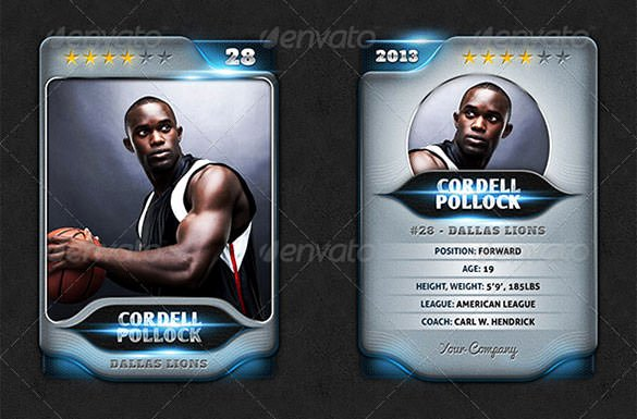 Trading Card Template Word Beautiful 83 Card Templates Doc Excel Ppt Pdf Psd Ai Eps