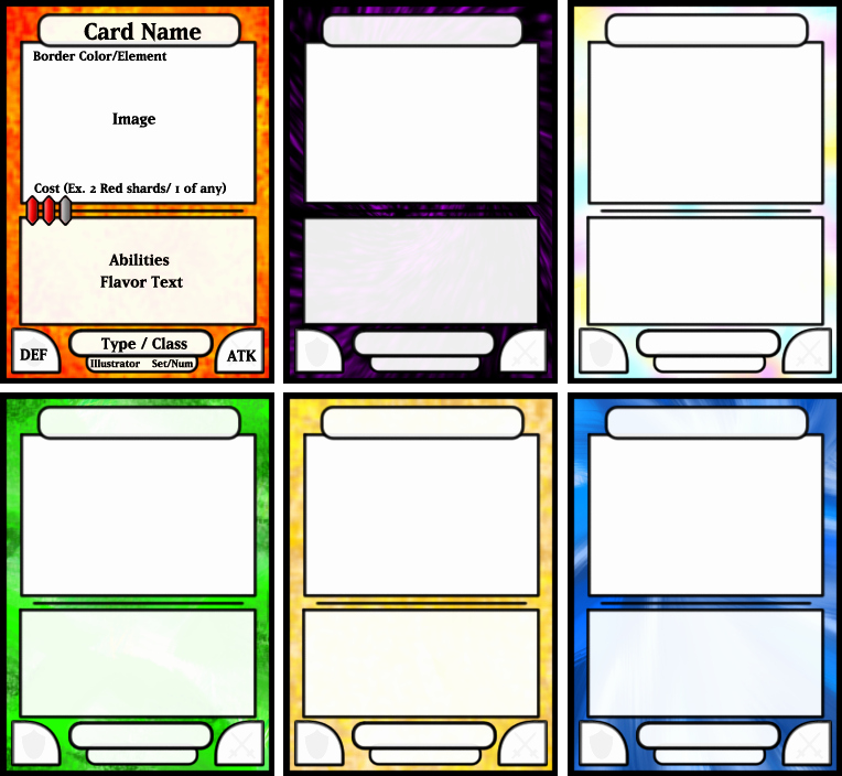 Trading Card Template Word Best Of Card Game Template by Kazaire On Deviantart