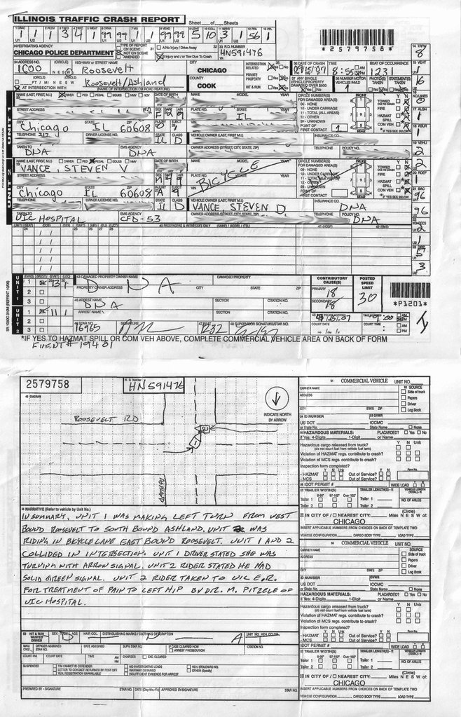 Traffic Accident form Unique My Crash Report