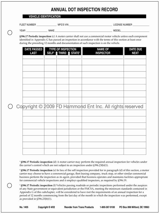 Trailer Inspection form Template Awesome 28 Of Vehicle Inspection Log Template