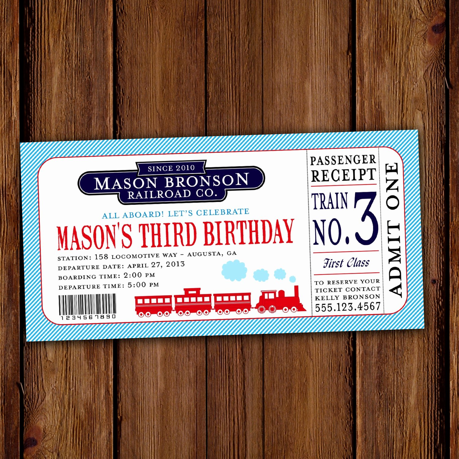 Train Ticket Birthday Invitation Awesome Train Ticket Birthday Invitation Choo Choo by Scriptivapaper