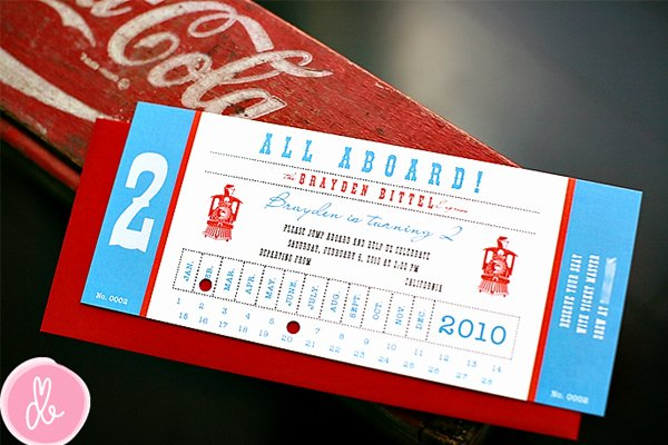 Train Ticket Birthday Invitation Beautiful All Aboard 16 Ideas for An Outstanding Train Party