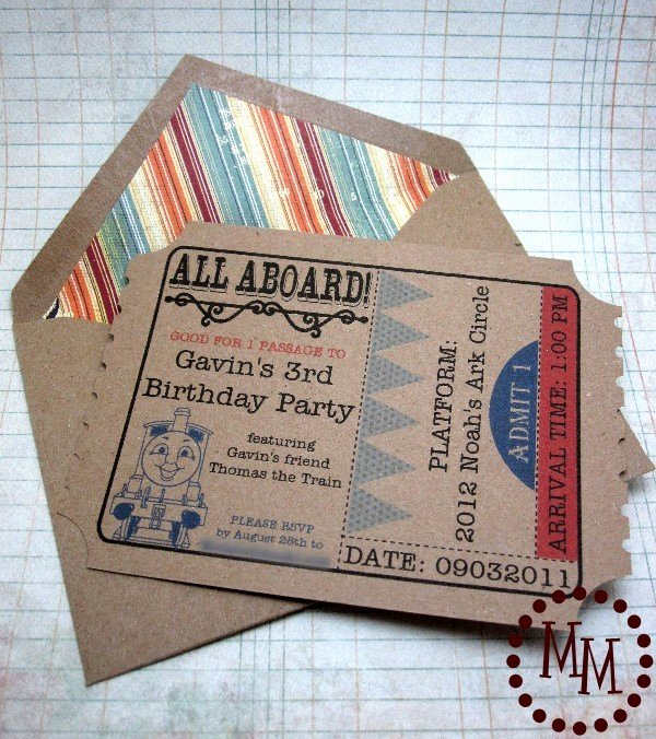 Train Ticket Birthday Invitation Beautiful Train Ticket Birthday Invitations the Scrap Shoppe