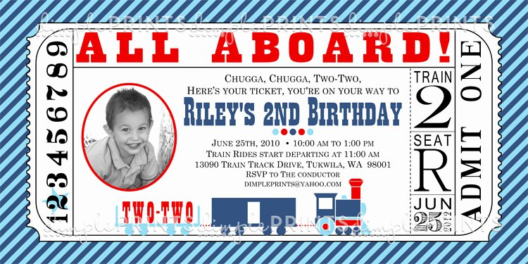 Train Ticket Birthday Invitation Beautiful Train Ticket Printable Birthday Invitation Dimple Prints