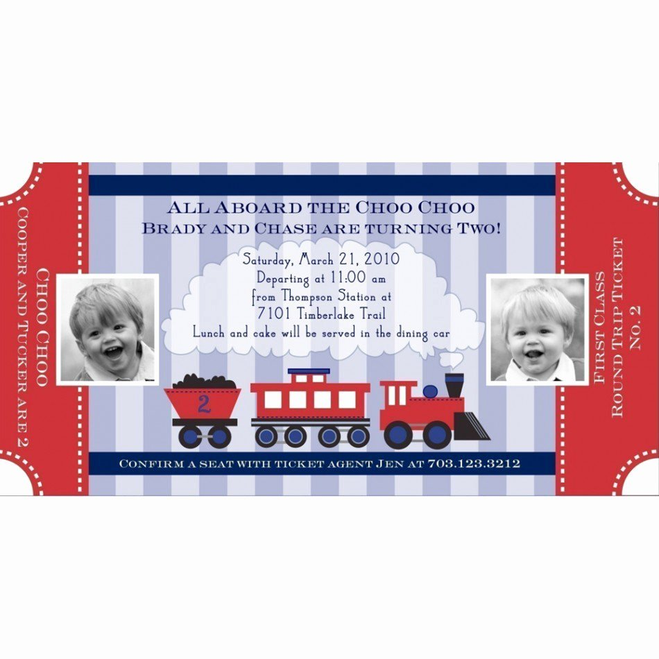 Train Ticket Birthday Invitation Beautiful Train Tickets Birthday Invitations