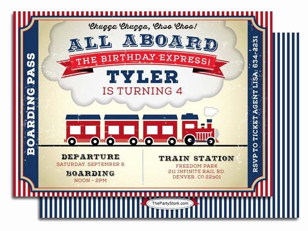 Train Ticket Birthday Invitation Best Of 9 Train Birthday Invitations for Kid – Free Printable