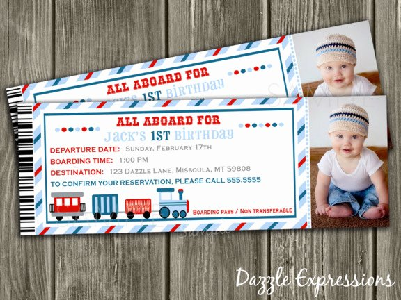 Train Ticket Birthday Invitation Best Of Printable Train Ticket Birthday Invitation Boys Choo