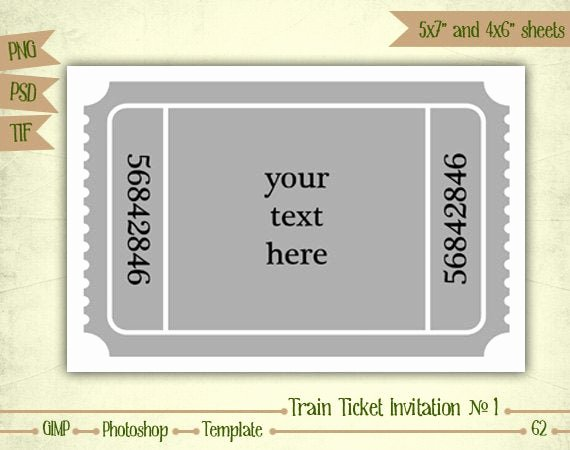 Train Ticket Birthday Invitation Best Of Train Ticket Invitation N1 Digital Collage Sheet Layered