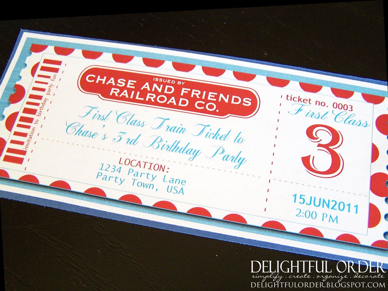 Train Ticket Birthday Invitation Fresh Editable Train Birthday Party Invitation Jpeg Printable