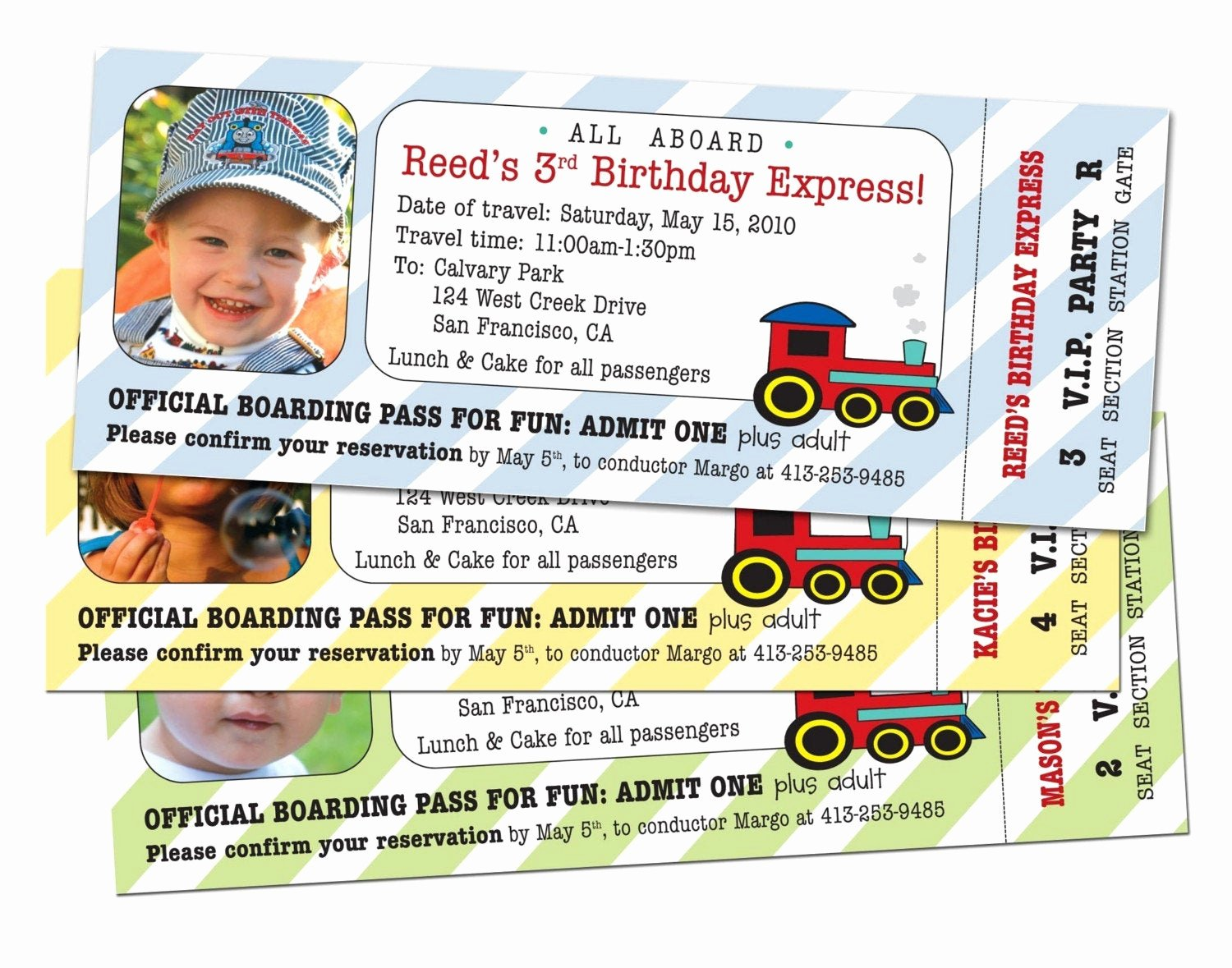 Train Ticket Birthday Invitation Inspirational 15 Train Ticket Party Invitations Customized and Printed for