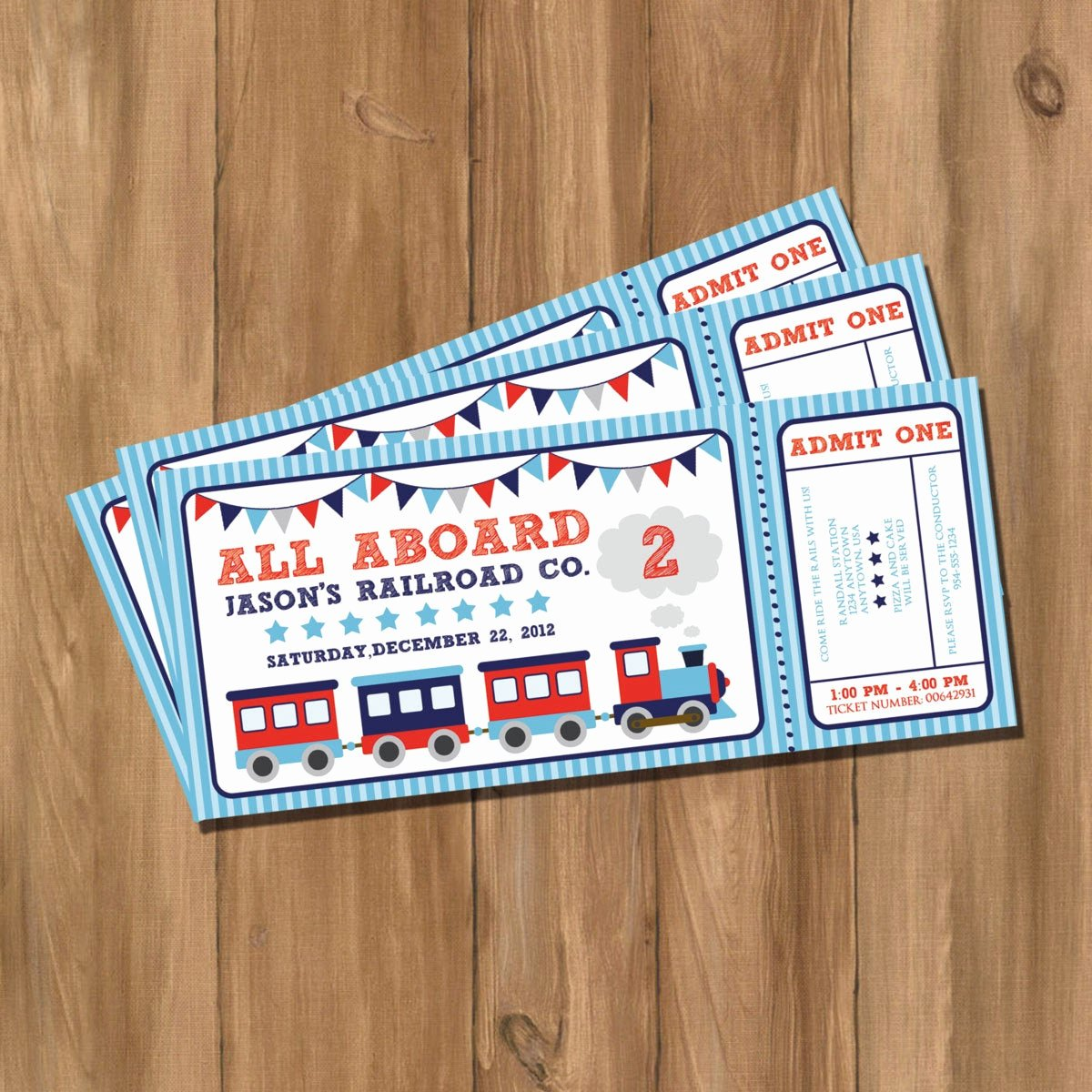Train Ticket Birthday Invitation Inspirational Choo Choo Train Ticket Birthday Party Invitation Digital